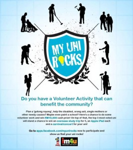 Get Involved In MyUni Rocks
